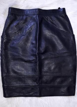 Шикарная юбка карандаш 100%кожа conbipel италия раз.s-m