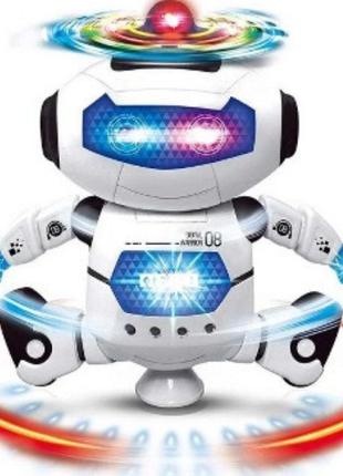 Танцующий светящийся робот Детская игрушка музыкальный робот