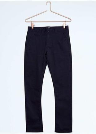 Kiabi брюки чинос 14 и 16 лет фасона slim из ткани стретч штаны