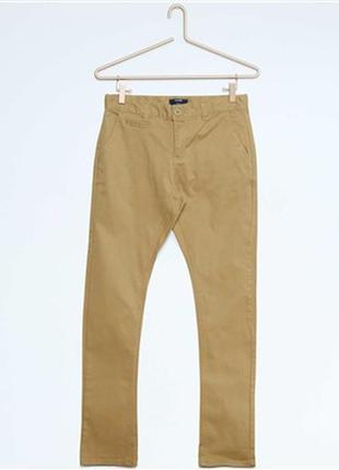 Kiabi брюки чинос 12, 14 лет фасона slim из ткани стретч бежев...