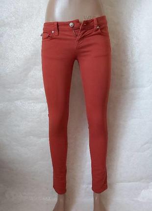 Новые с биркой укороченные скинни/джинсы кирпичного цвета, раз...