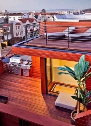Строительство террасы на крыше многоэтажных домов Одесса