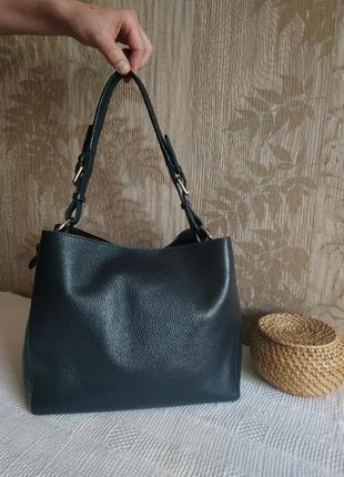 Италия varese шикарная кожаная сумка, сумка из зернистой кожи,...