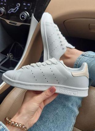Adidas stan smith ✰ женские кожаные кроссовки ✰ белого цвета 😻