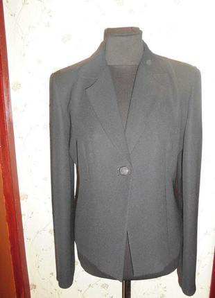 Фирменный пиджак s&k угольно-черного цвета 50 р отл качество