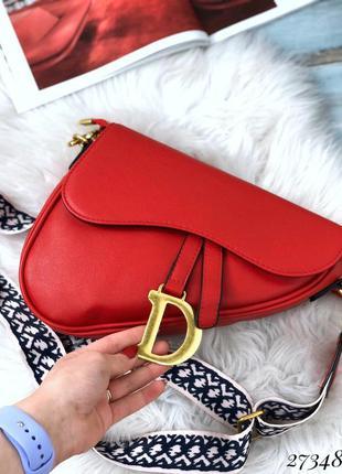 ❤ женская красная сумка в стиле dior  ❤