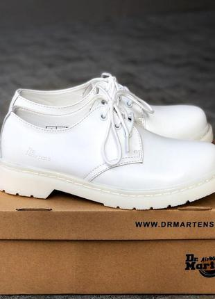 Dr. martens 1461 mono white ✰ мужские кожаные туфли ✰ белого ц...