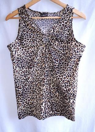 Летняя распродажа!!!красивая майка в леопардовый принт раз. l