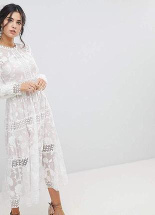 Шикарное  платье миди  бренда forever new  (2526)