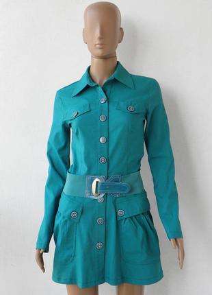 Жакет-піджак бірюзового кольору 42 розмір (36 євророзмір).