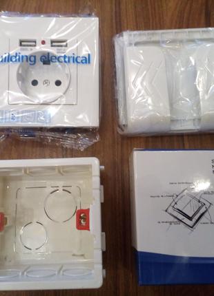 Оригінальна SRAN usb розетка, коробка і підставка для смартфона