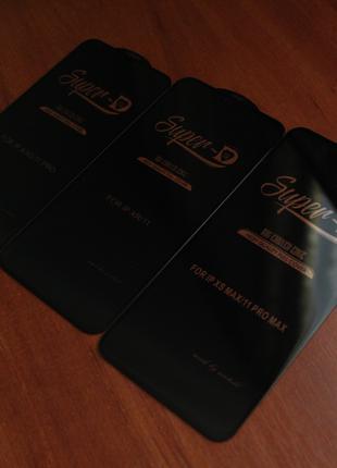 Защитное стекло Iphone Super D X/XS/11 PRO/XR/11/XSMAX/11 PRO MAX