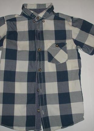 Фирменная стильная рубашка мальчику 9-10 лет