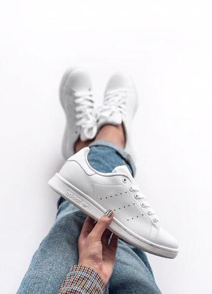 Adidas stan smith white женские кроссовки