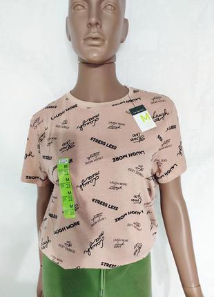 Хлопковая женская футболка, футболка с принтом