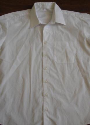 Фирменная белая школьная рубашка парню 14-15 лет