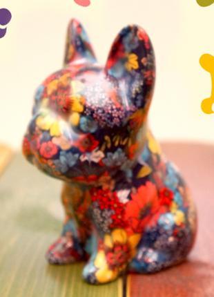 Собачка - копилка керамическая . №3