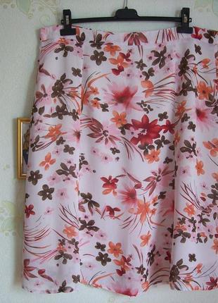 Летняя шелковая юбка на подкладке