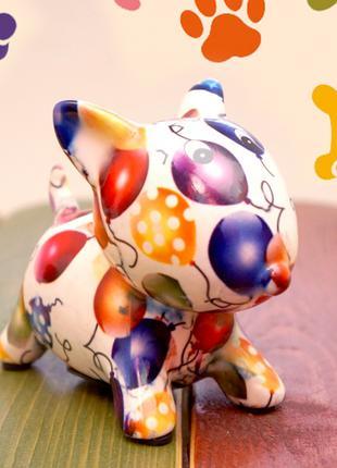 Собачка - копилка керамическая . №2