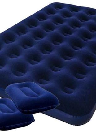 Матрас надувной Bestwey Pavillo с подушками и насосом
