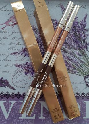 Magical holiday duo eyeliner! карандаш для глаз kiko milano!