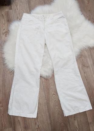 Широкие расклешенные льняные брюки из натурального льна клеш ш...