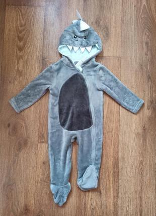 Комбинезон/человечек акула для малыша