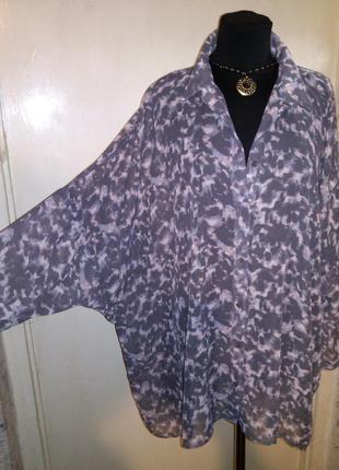 Стильная,шифоновая блузка с удлинённой спинкой,большого размер...