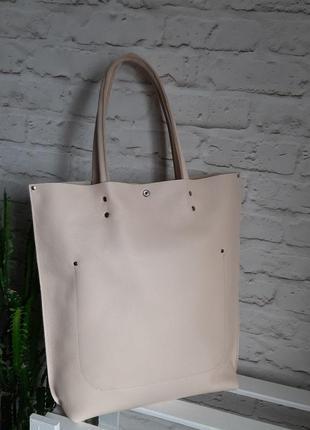 Шоппер большая сумка из натуральной кожи