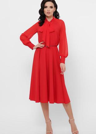 Элегантное платье с шифоновыми рукавами* отличное качество