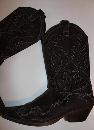 Стильні замшеві чоботи ковбойки nana казаки