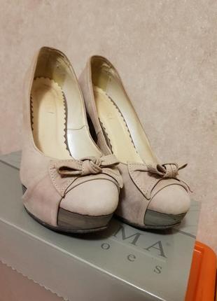 Польские туфли нубук lewski