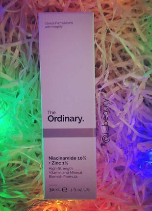 Niacinamide 10% + Zinc 1% - сироватка з 10% вітаміном В3 і цинк