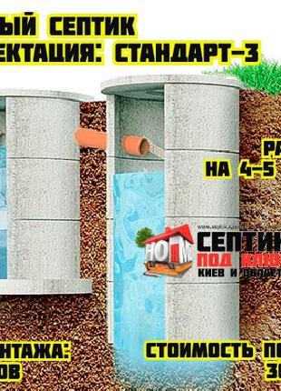 Септик для дома на 4-5 человек • Автономная канализация под ключ