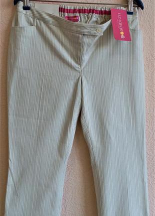 Укороченные хлопковые брюки для беременных liz lange