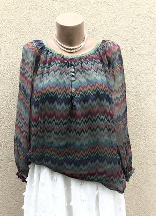Новая,шелк блуза реглан,рубаха, этно бохо стиль,италия