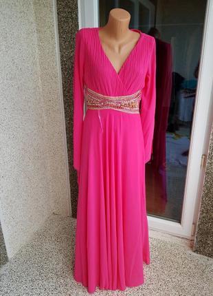 Выпускное вечернее платье малинового цвета l- xl