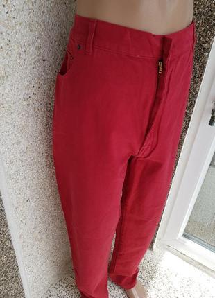 Новые бордовые джинсы flag