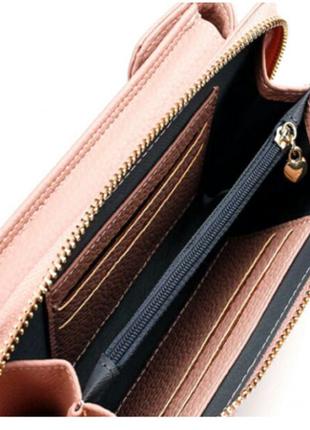 Кошелек-клатч-сумочка Baellerry Young 3 в 1 Розовый, (VK-2053)
