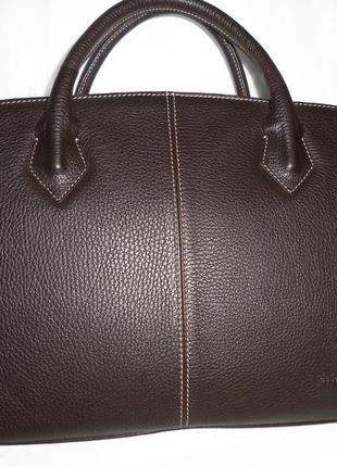 Стильная деловая сумка из натуральной кожи navyboot