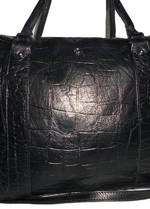 Стильная большая сумка из натуральной кожи ashwood