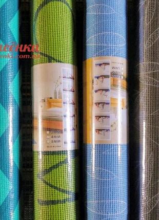 Йога Мат 4 мм с Рисунком, Коврик Для Йоги и Фитнеса, Гимнастики и