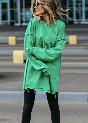 Світшот светр кофта зелена жовта