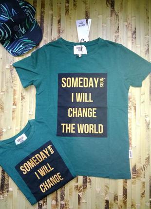 Премиум бренд футболка someday soon  цвет бутылка размеры 6 и 10