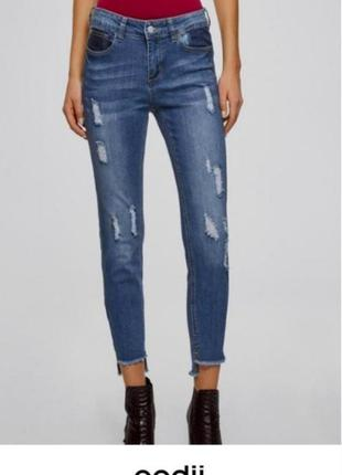 Стильные джинсы  oodji, slim