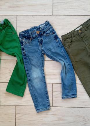 Три пары джинс на 2-4 года