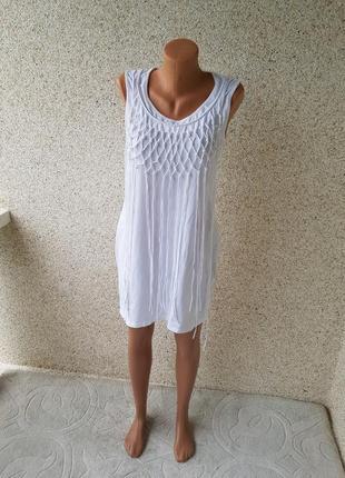 Летнее короткое платье туника