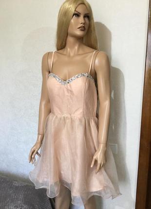 Платье вечернее из органзы new look размер 14/16