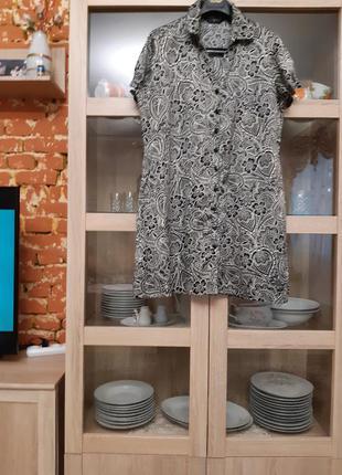 Очень милое платье рубашка большого размера