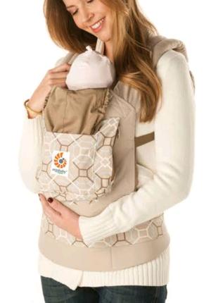 Эрго-рюкзак - переноска Ergo Baby Organic Латук, с вставкой